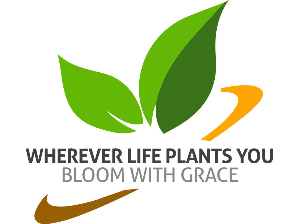 Wherever life plants you, bloom with grace | Minimal Nature Design with Green Leaves